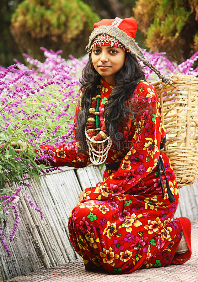 Download A Traditional Darjeeling Girl Editorial Stock Photo - Image: 40146063