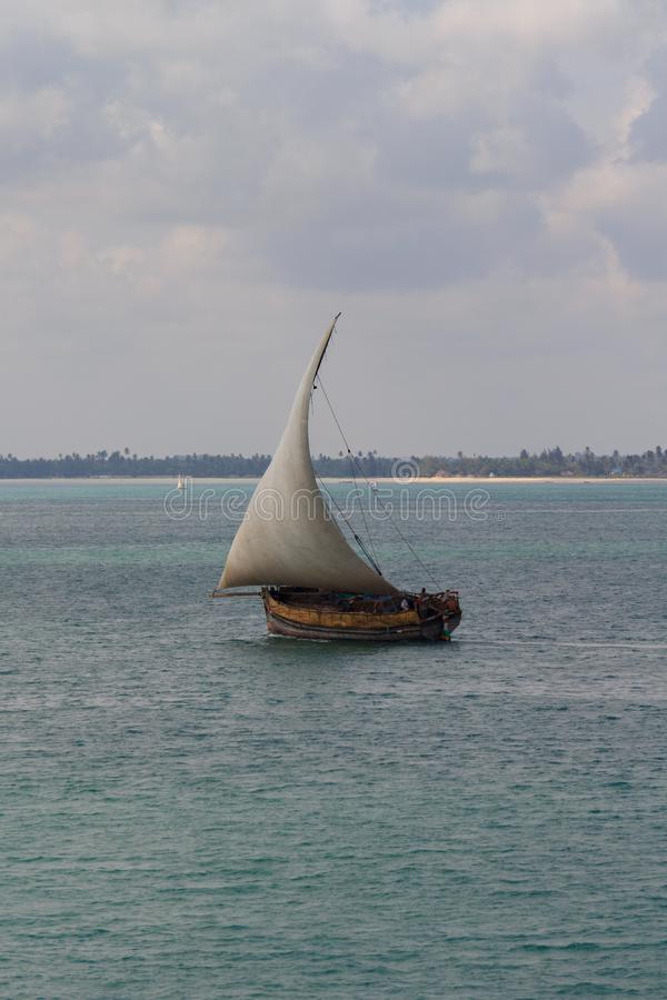 Traditional Dhow Sailing royalty free stock photo