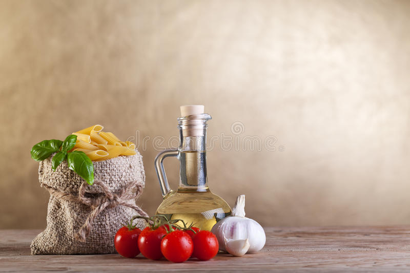 Traditional diet concept with pasta royalty free stock images