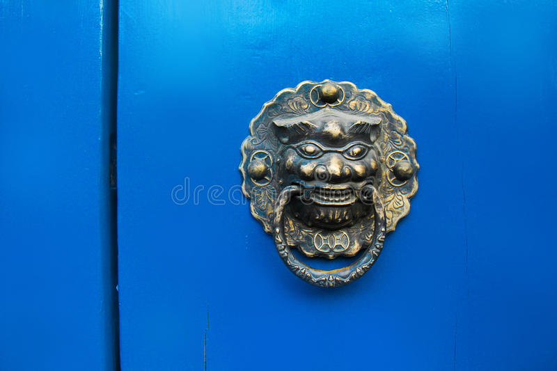 Traditional door of China. stock photography