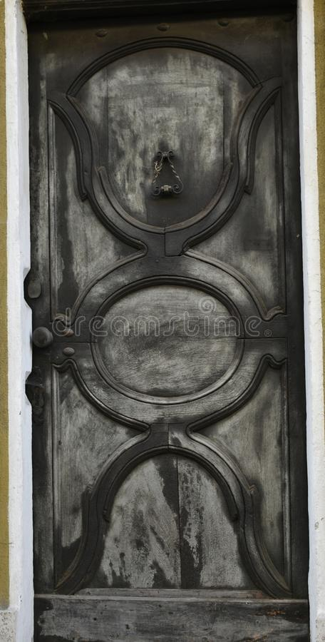 Traditional door of Langhe, Piedmont, Italy stock photography