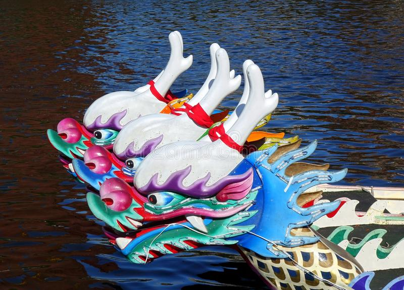 Traditional Dragon Boats in Taiwan royalty free stock photography