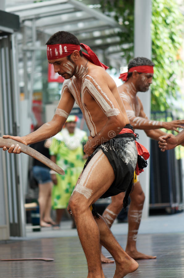 Traditional Dreamtime Dance stock image