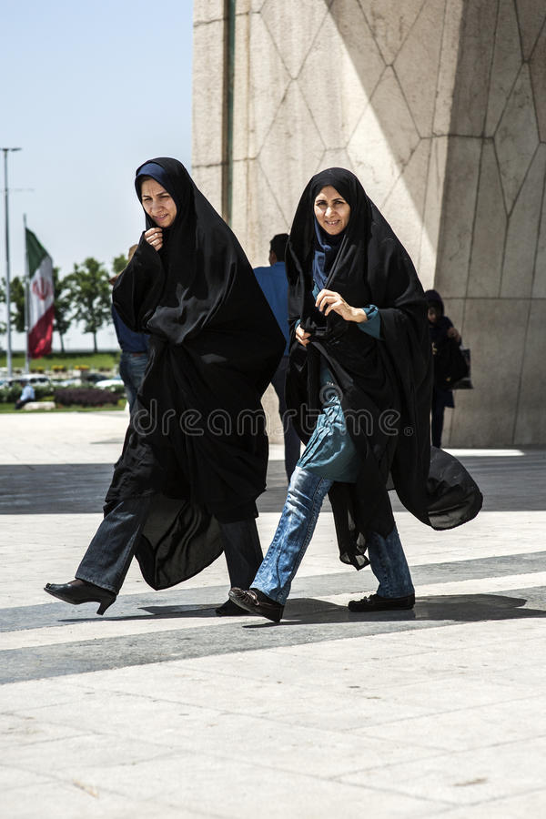 Traditional dressed Iranian women royalty free stock photography