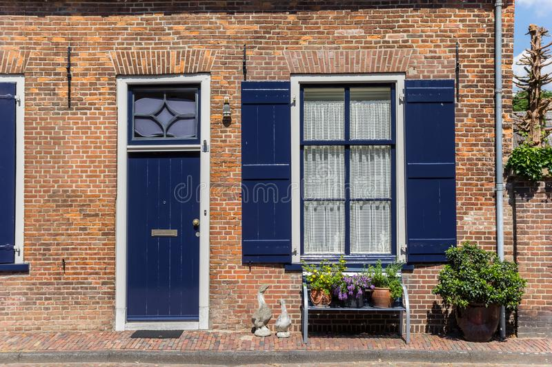 Traditional dutch house in the center of Doesburg royalty free stock images