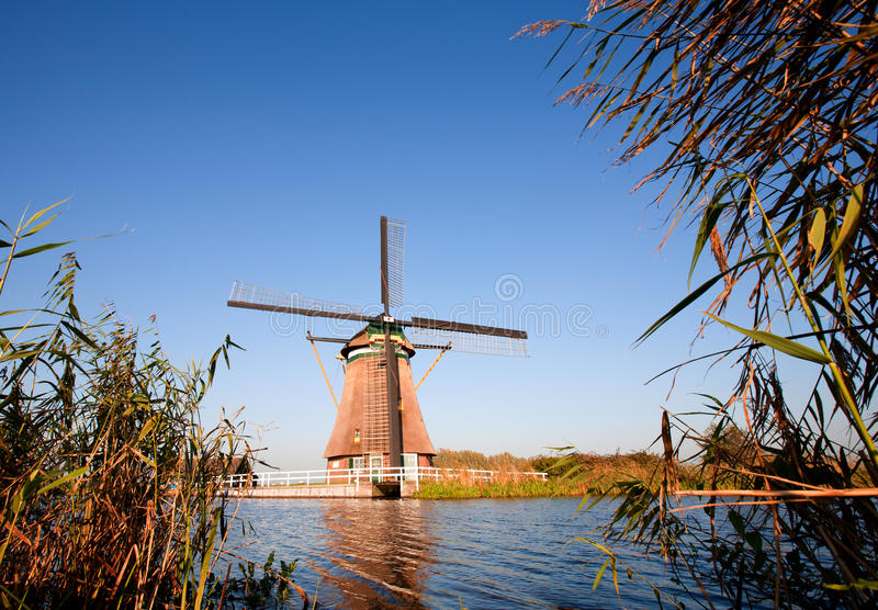 Traditional Dutch windmill stock photography