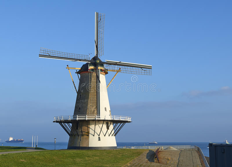 Traditional dutch windmill stock images