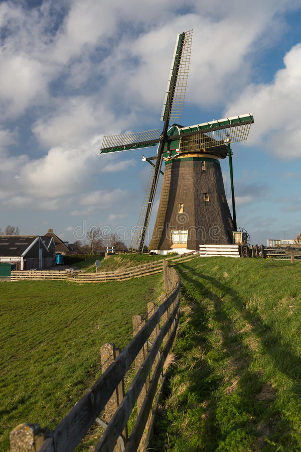 Traditional Dutch Windmill royalty free stock photo