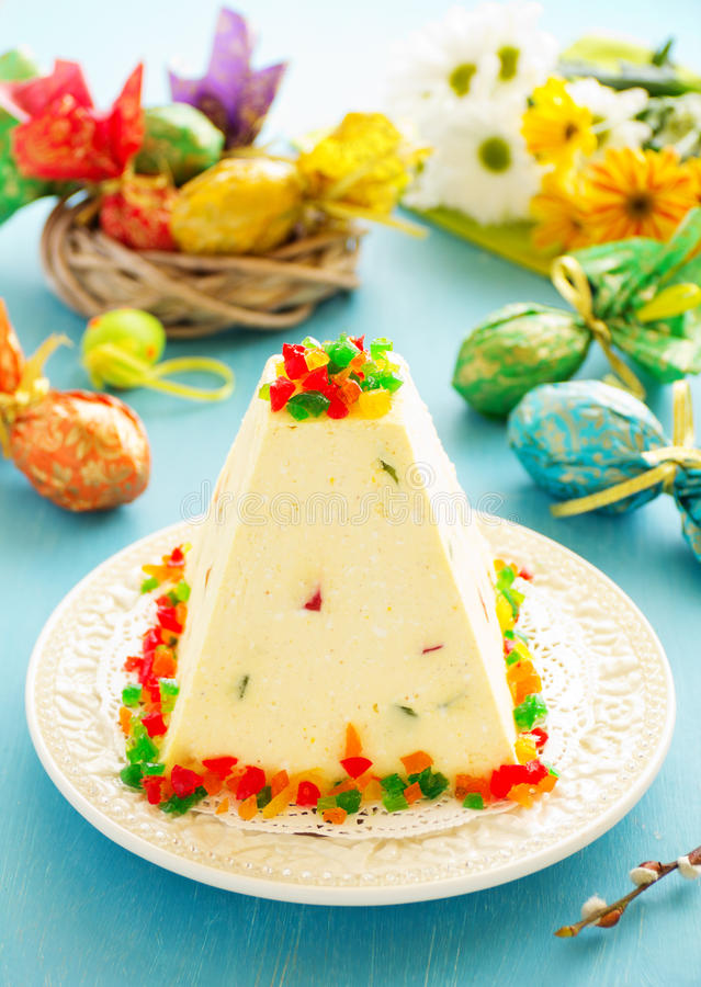 Traditional Easter dessert made from cottage cheese royalty free stock photography