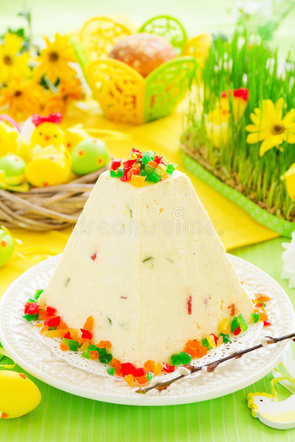 Traditional Easter dessert made from cottage cheese royalty free stock image