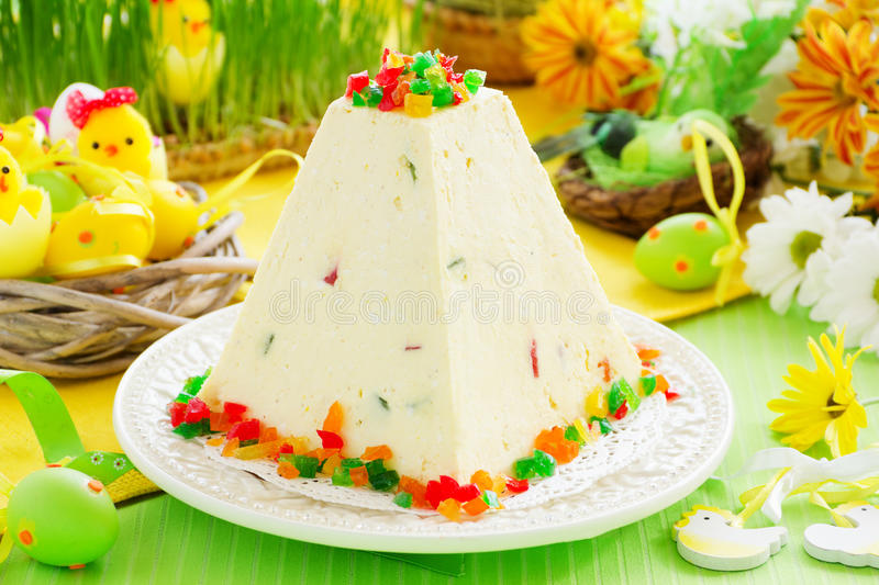 Traditional Easter dessert made from cottage cheese stock photography