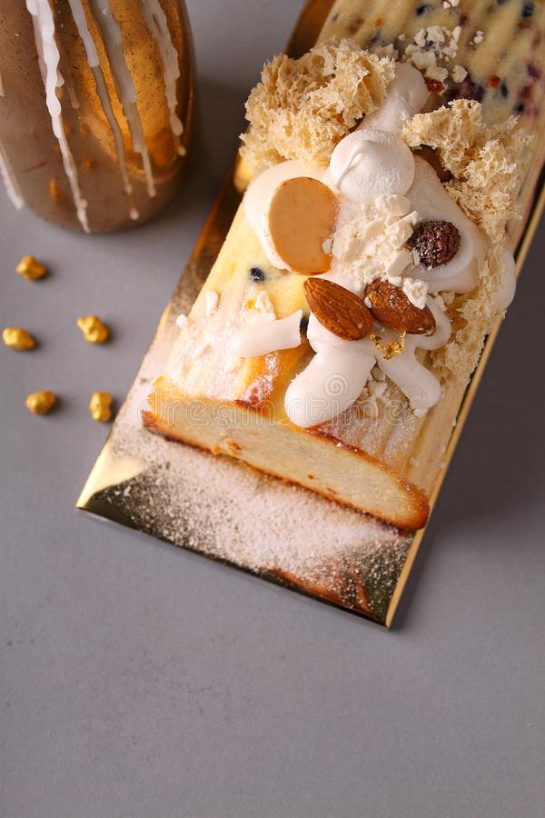 Traditional Easter dessert made from cottage cheese with raisins, nuts royalty free stock images