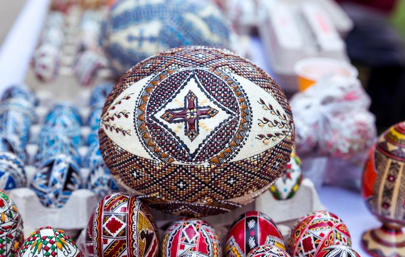 Traditional easter egg, hand painted royalty free stock images