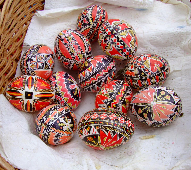Traditional Easter Eggs royalty free stock photos