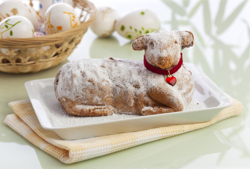 Traditional Easter Lamb Cake royalty free stock image