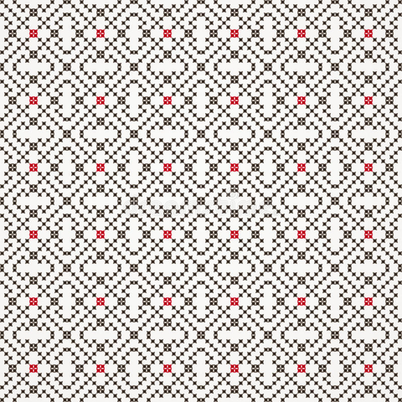 Traditional embroidered seamless pattern. Vector vector illustration