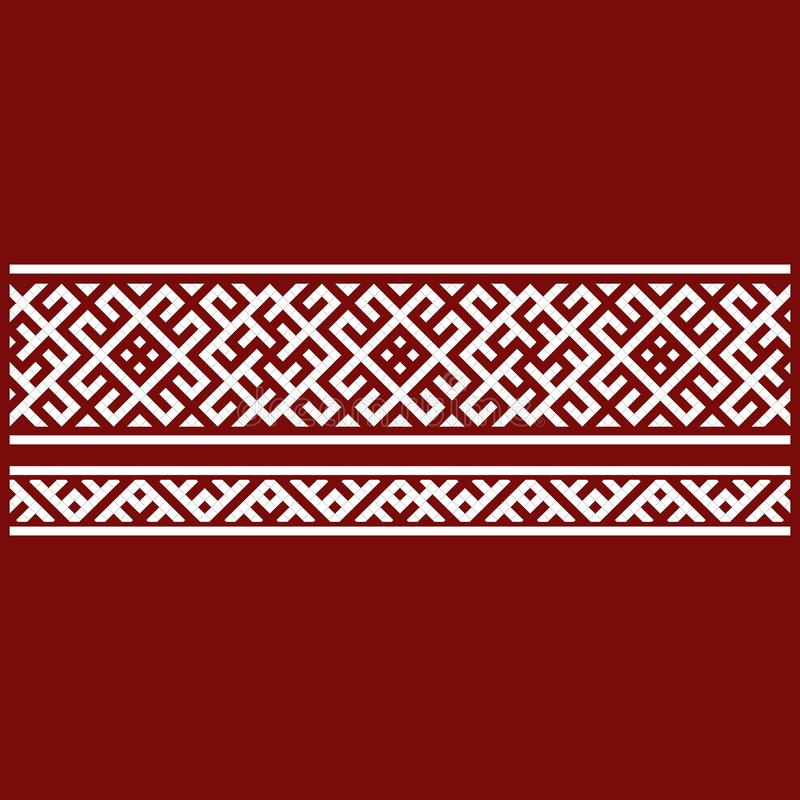 Traditional embroidery. Vector illustration of ethnic seamless ornamental geometric patterns for your design stock illustration