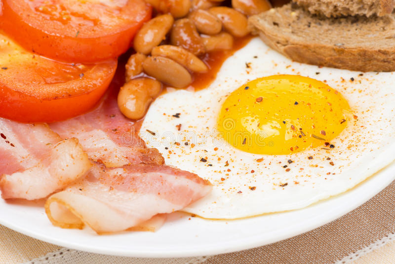 Traditional English breakfast, close-up stock image