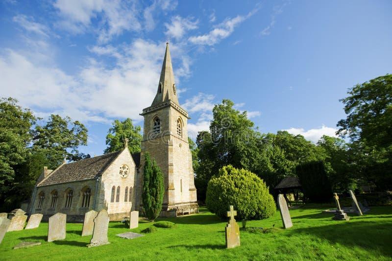 Traditional English Church stock photo