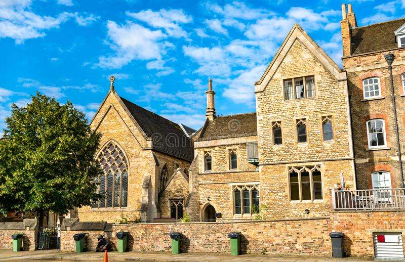 Traditional English houses in Peterborough. The United Kingdom stock photos