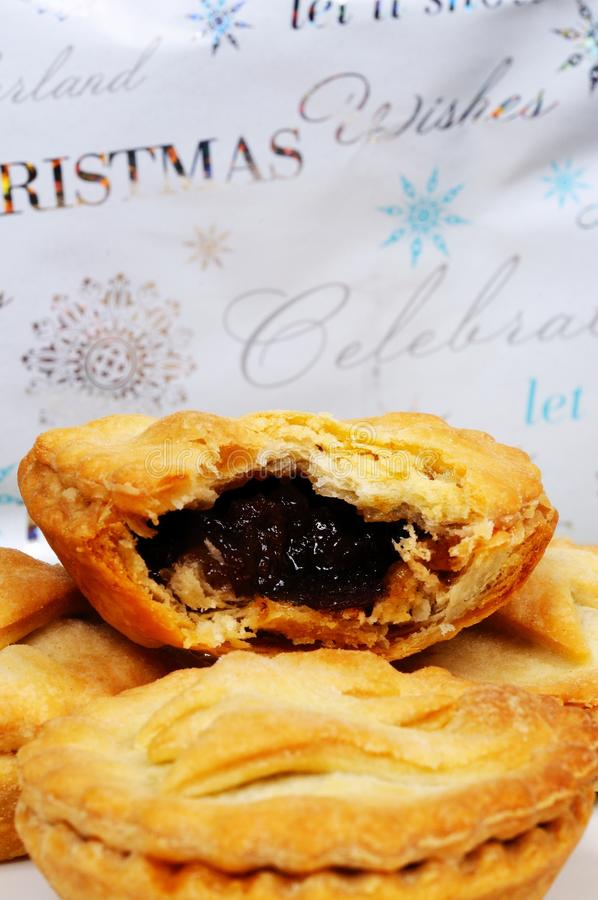 Traditional English mince pies. stock photo