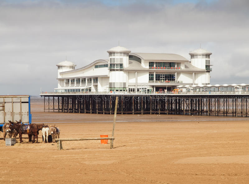 Traditional English Seaside, Weston Super Mare stock images