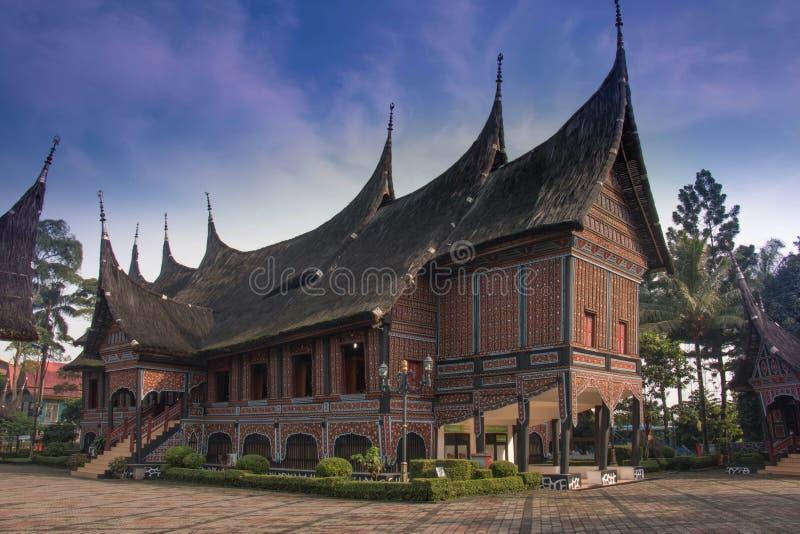 Minangkabau Ethnic House. Sumatran Traditional Ethnic House royalty free stock photography
