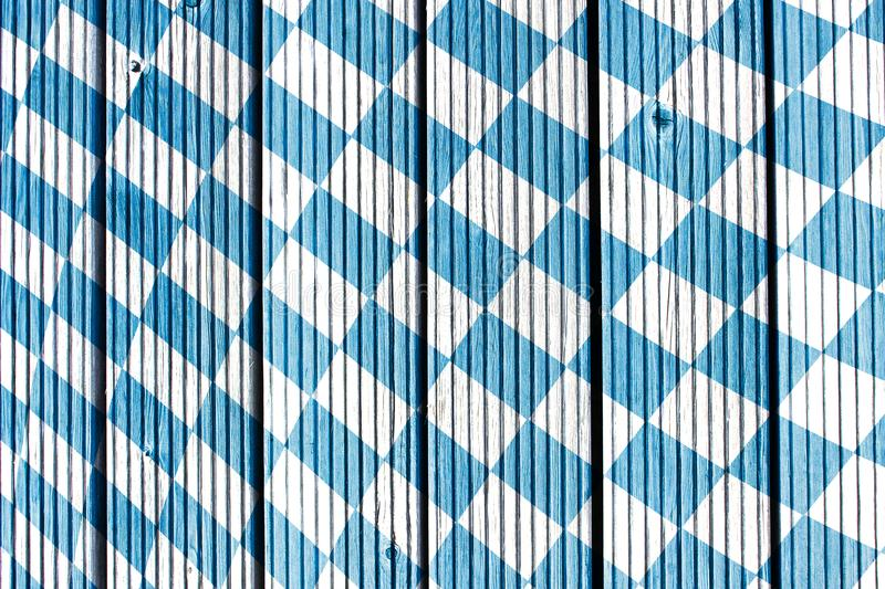 Traditional fabric texture. Oktoberfest background. Bavarian flag pattern. stock images