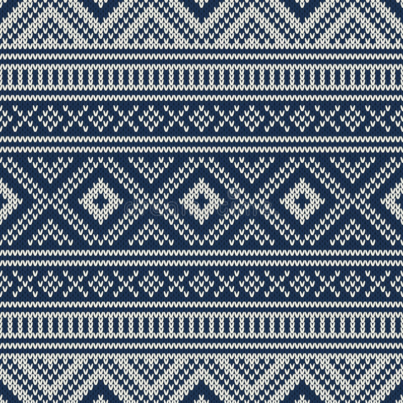 Traditional Fair Isle Pattern. Seamless Knitting Ornament Stock ...