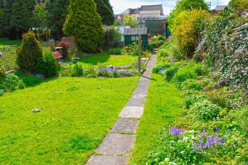Traditional family garden stock photos
