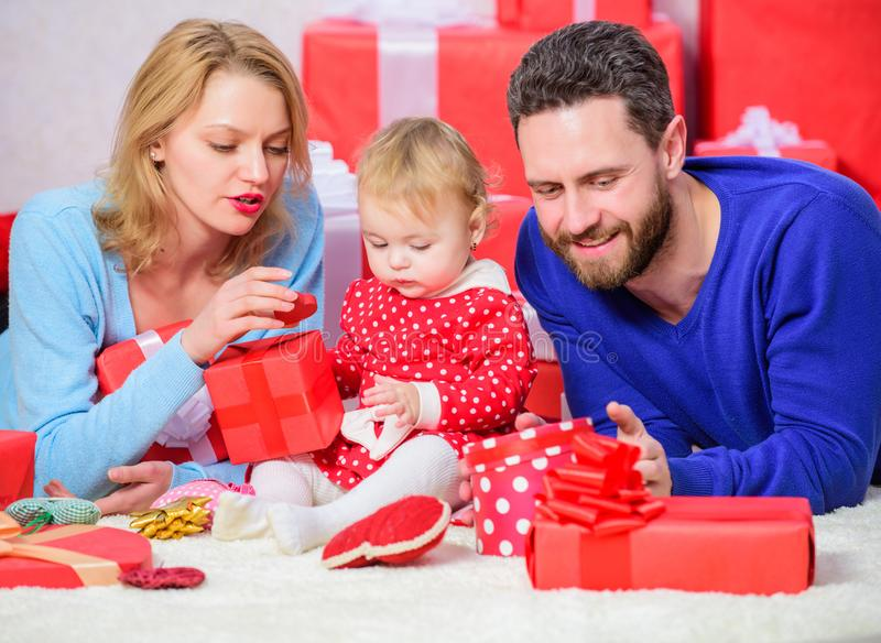 Traditional family values. Family celebrate anniversary. Valentines day. Lovely family celebrate valentines day. Happy royalty free stock images