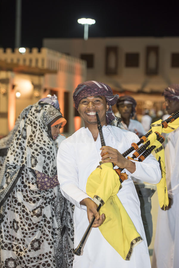 Traditional festival in Muscat, Oman royalty free stock photography