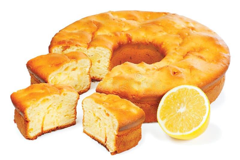 Traditional festive lemon cake stock photo