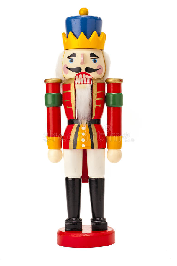 Traditional figurine christmas nutcracker royalty free stock image