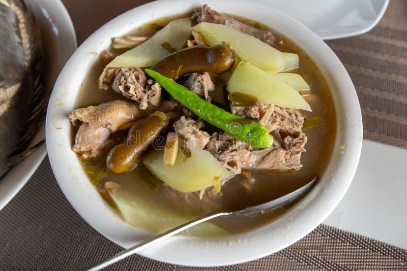 Traditional Filipino vegetable Food - Chicken Sinigang stock photos