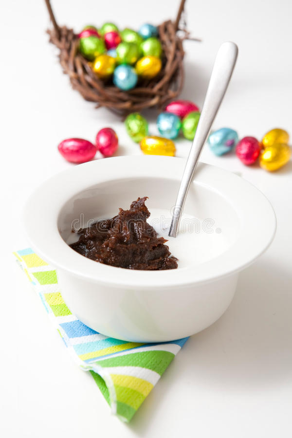 Traditional finnish Easter food, rye pudding. Traditional finnish Easter food, mammi, rye pudding royalty free stock photography