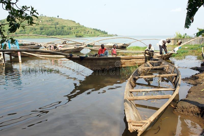 Download Traditional Fisherman Lake Kivu Boat At Gisenyi Editorial Stock Photo - Image of rwanda, population: 20026863