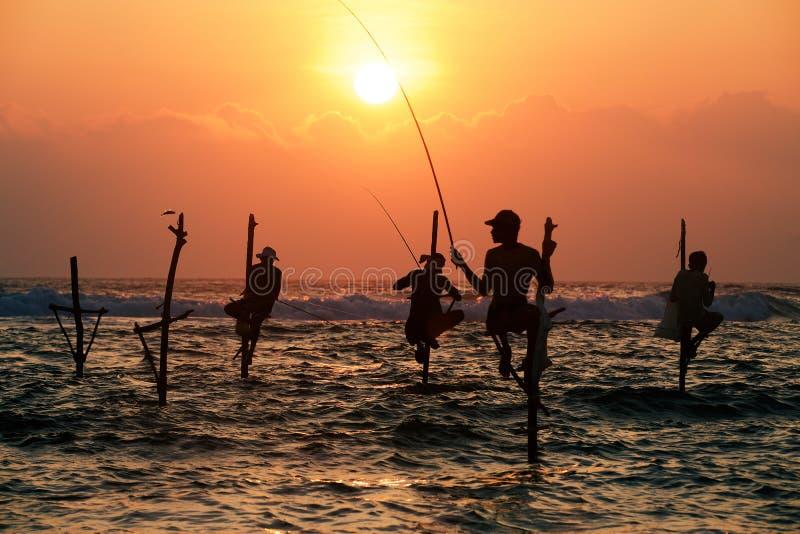 Traditional fishermen royalty free stock photo