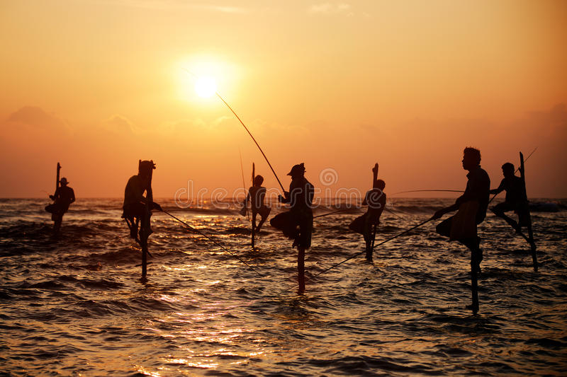 Traditional fishermen royalty free stock photography
