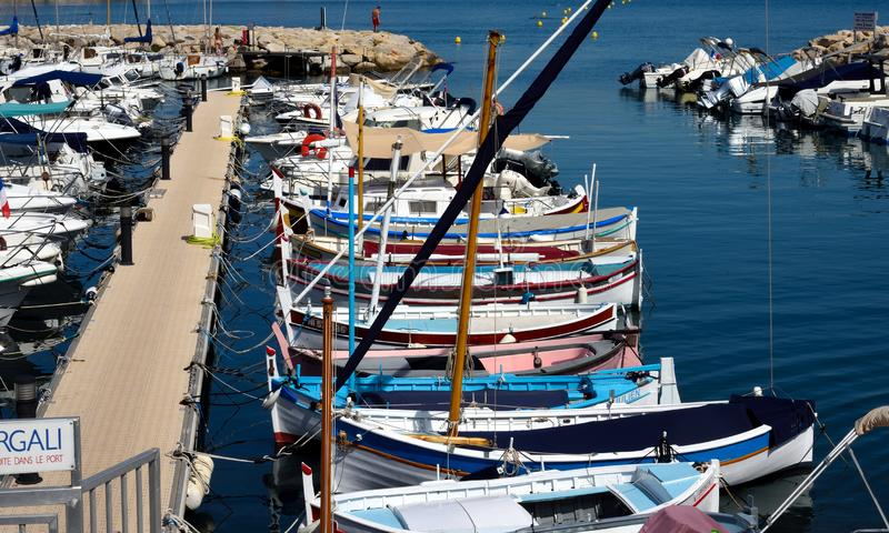 Traditional fishing boats. stock photography