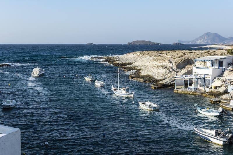 Traditional fishing village on Milos island at Greece stock photo