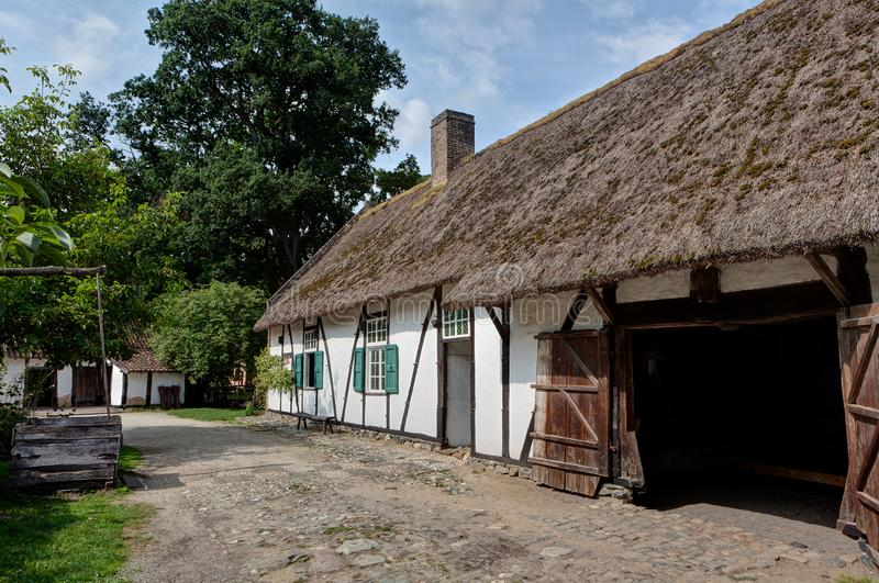 Traditional old farm, Bokrijk, Limbourg, Belgium royalty free stock photo