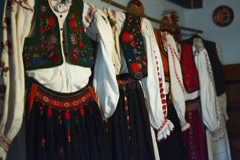Traditional folk costumes stock image