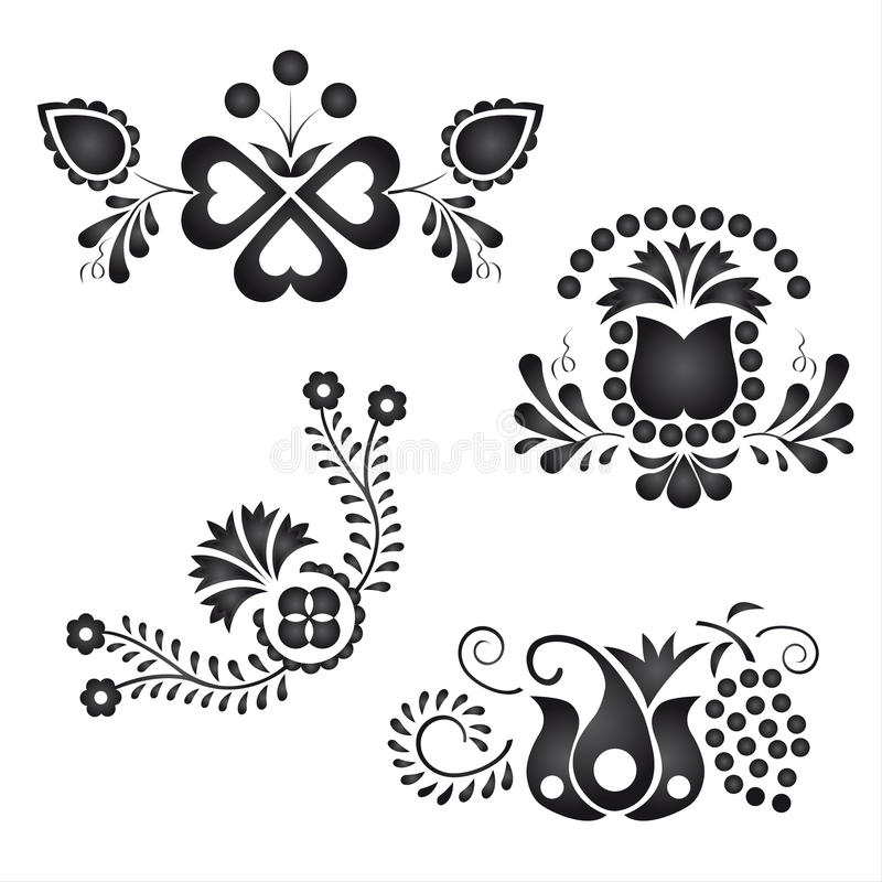 Download Traditional folk ornaments stock vector. Image of floral - 27771796