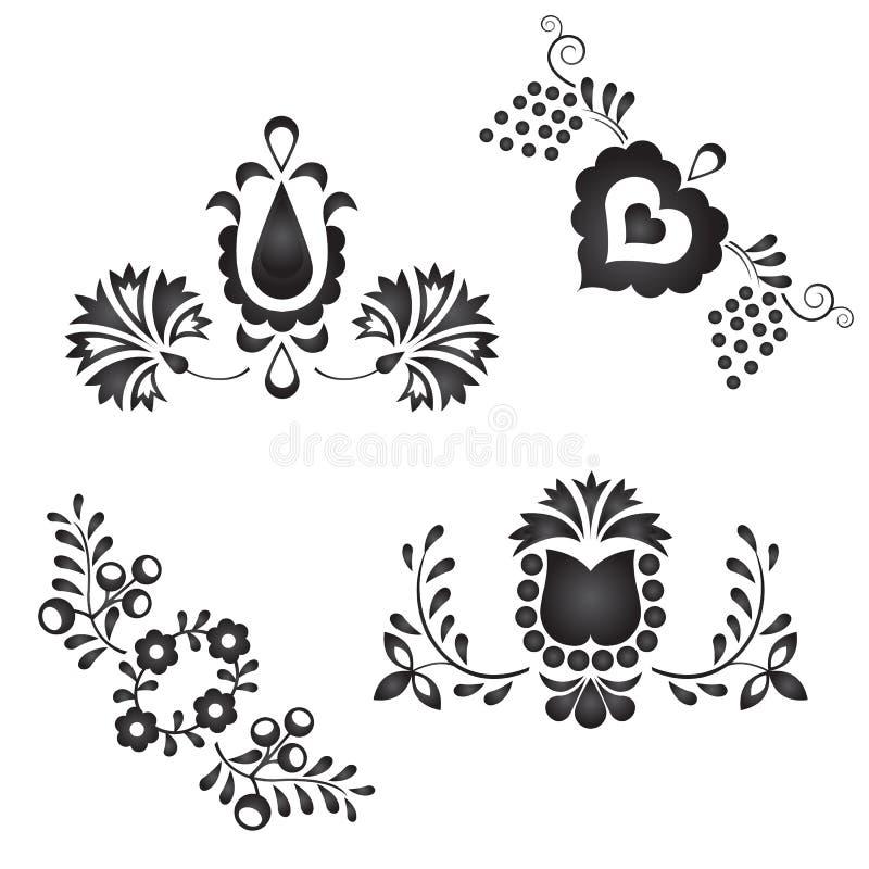 Traditional folk ornaments stock illustration