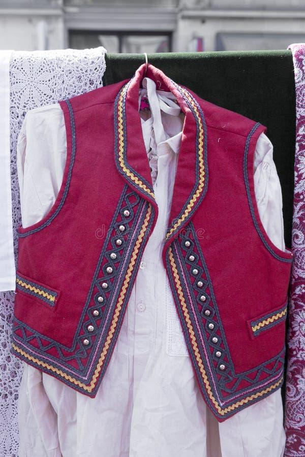Traditional Croatian waistcoat. Traditional folk waistcoat from the region of the North Croatia royalty free stock photos