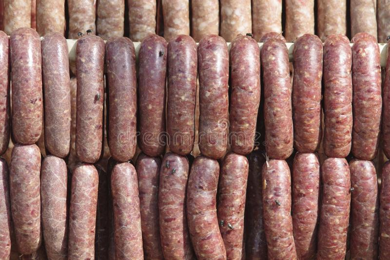 Northeast Thailand traditional sausage royalty free stock image