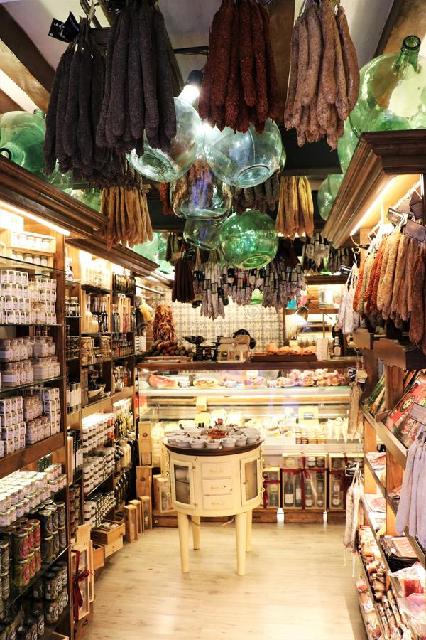 Traditional food products shop stock photos