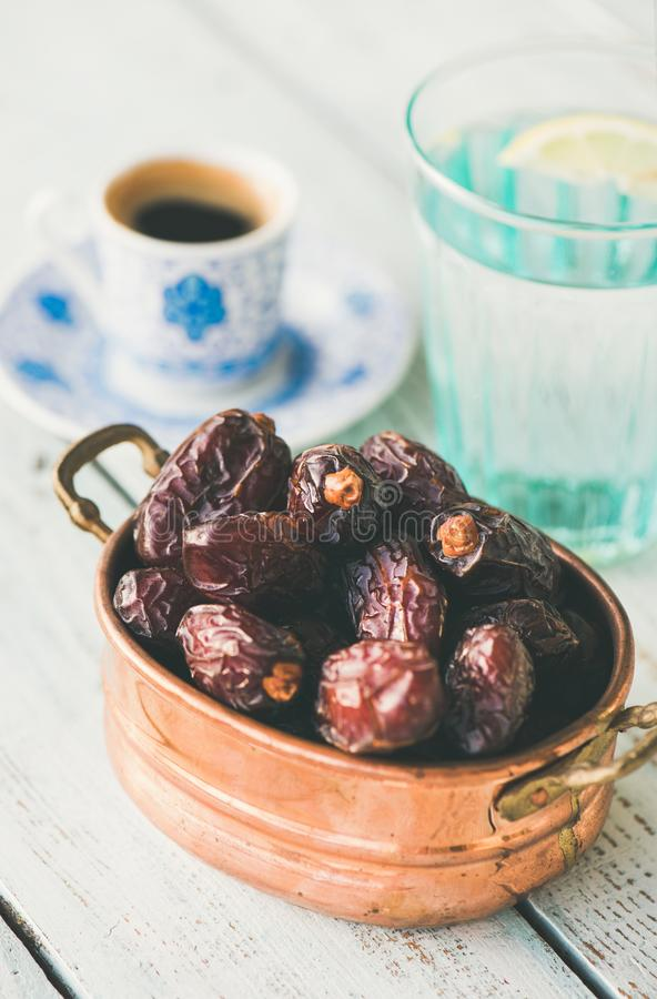 Traditional food for Ramadan iftar royalty free stock images