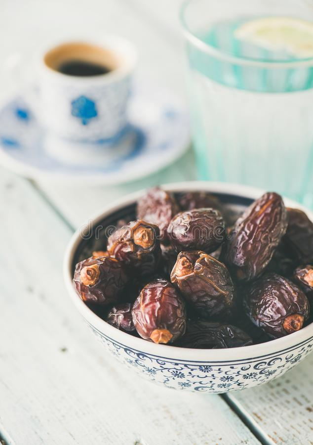 Traditional food for Ramadan iftar royalty free stock photo